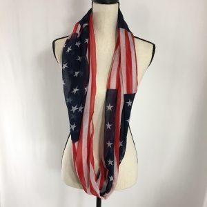 American Flag Infinity Scarf