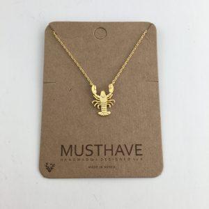 Crawfish Necklace Gold