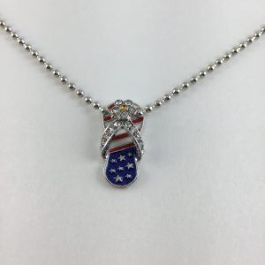 Flag Flipflop Necklace N3113