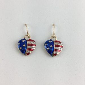 Flag Heart Earrings UE077